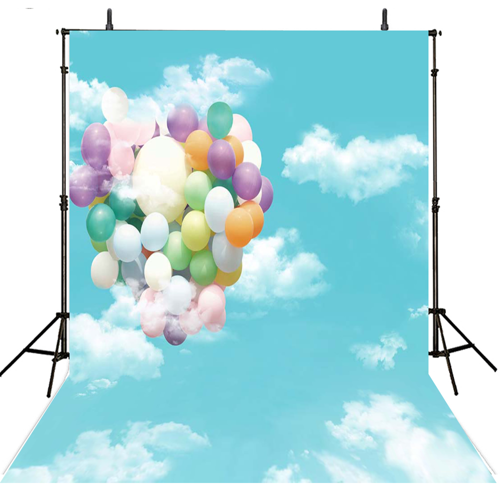 Hot Air Balloon Photography Backdrops Vinyl Backdrop For Photography Sky Background For Photo Studio Kids Foto Achtergrond