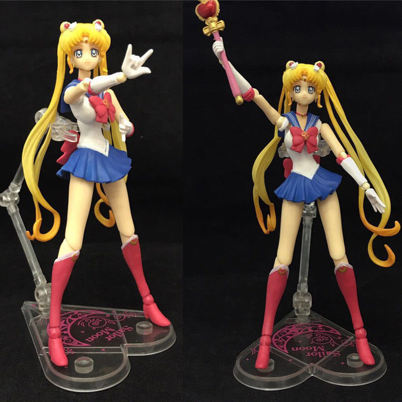 15 CM S. H. Figuarts Sailor Moon Tsukino Usagi Action Figure Yeni J01