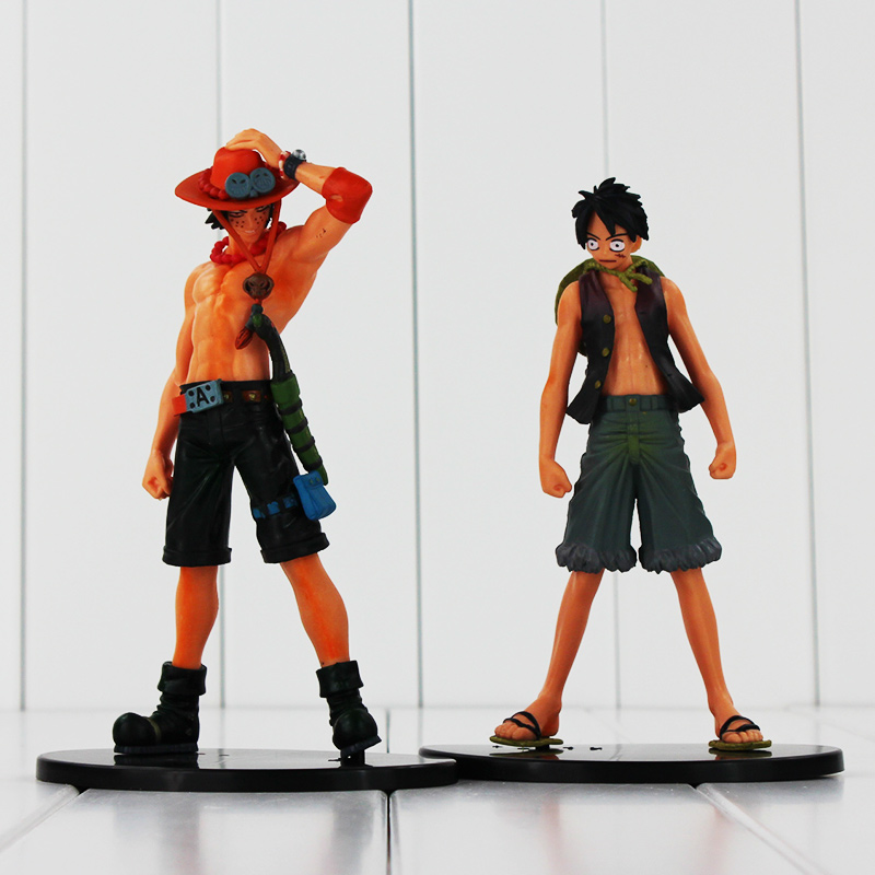 Serin 2 adet/grup One Piece Monkey. D. Luffy Ve Ace PVC Action Figure Oyuncaklar Hediyeler