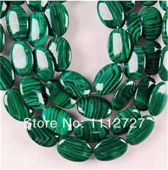 New Fashion DIY 13X18MM Green Malachite Oval Loose Beads 15AAA MY4266 Beads Accessory Parts Fashion Jewelry Making Design SD340